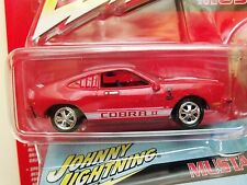 JOHNNY LIGHTNING - 1977 FORD MUSTANG COBRA II (RED) - COLLECTOR TIN - DIECAST