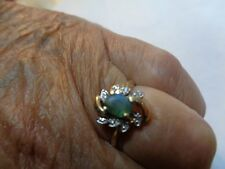 Estate Ring   .55ct  NATURAL Color Change Alexandrite  & Diamond in 10K YG