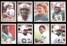 1981 Miami Dolphins Sticker Set NAT MOORE TONY NATHAN DAVE WOODLEY DURIEL HARRIS