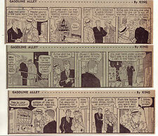 Gasoline Alley by Dick Moores - 26 large daily comic strips from March 1966