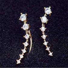 1Pair Women Lady Fashion Rhinestone Crystal Earrings Ear Hook Stud Jewelry Gift