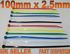 600 X STRONG NYLON CABLE TIE, WRAP, ZIP TIES 1OOmm x 2.5mm PACK BUNDLE