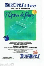 PUBLICITE ADVERTISING 126  1992  radio Europe 1 7° open Paris tennis JR Godart P