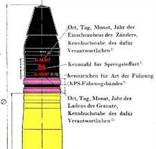 GERMAN 128mm FLAK GUN CARTRIDGES REFERENCE CD ,SHELL ,FUZE AMMO MANUAL COLOR