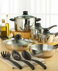 Stainless Steel Cookware Set Pots and Pans Tools of the Trade Basics 12 piece