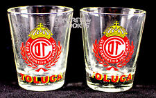 2 Club Deportivo TOLUCA  Soccer football Team Shot Glass Pair copita caballito