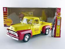 GREENLIGHT COLLECTIBLES 1/18 FORD F100 Pick-up 1953 Shell avec pompe a essence 1