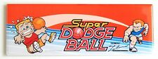 Super Dodgeball Marquee FRIDGE MAGNET (1.5 x 4.5 inches) arcade dodge ball