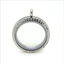 FLOATING LOCKET Charm Pendant 30mm Silver Origami Owl Necklace FREE SHIPPING!