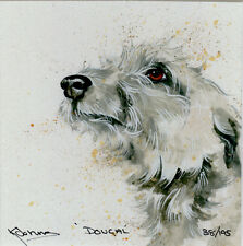 LURCHER COURSING LONG DOG FINE ART LIMITED EDITION PRINT - Head Study Kay Johns