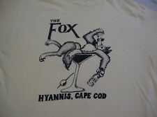 Vintage THE FOX Hyannis Cape Cod Bar Lounge Liquor Beer Party 80's T Shirt M