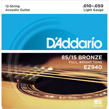 D'Addario 85/15 Great American Bronze 12 String Acoustic Guitar Strings - EZ940