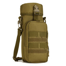 Men Nylon Shoulder Messenger Water Bottle Bag Outdoor Molle Kettle Waist Pack