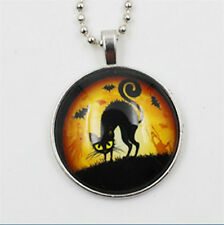 Vogue Punk Style Owl Glow in the Dark Stainless Steel Necklace Pendant