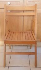 Vintage Romania MCM Wood Folding Slat Chair Danish Style LOCAL PU OR CAN DELIVER