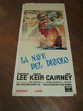 LOCANDINA,Devil-Ship Pirates,la NAVE DEL DIAVOLO,Christopher Lee,Hammer film