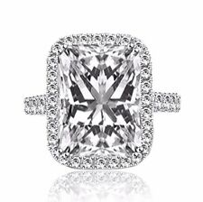 3.00 CT RADIANT CUT D/VS1 DIAMOND SOLITAIRE ENGAGEMENT RING 14K WHITE GOLD CE