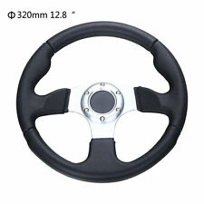 "Universal 320mm / 12.8"" Racing Sports Steering Wheel with Horn Button Black"
