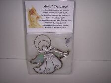 "Stained Glass Suncatcher ""Angel Treasure""Nickel Plated, 5""T x 5""W    4120 NP"