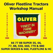 Oliver Super Fleetline 55 66 77 88 550 660 770 880 Tractor Shop Service Manual
