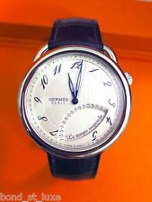 Collector NEW Hermes Arceau Le Temps Suspendu Mens Watch Complication AR8.910
