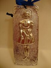 "Tama Ex Voto "" Girl "" Greek Russian Orthodox Icon Embossed Metal Plaque"