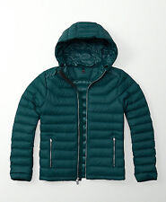 Mens Abercrombie & Fitch Water Resistant Quilted Hoodie Puffer Jacket Size XL