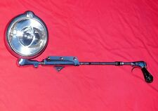"VINTAGE UNITY S6 CHROME POLICE SQUAD CAR SPOT SEARCH LIGHT GE CHICAGO 30"" POLE"