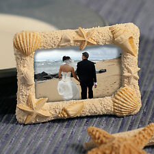 Sand and Shell Photo or Place Card Frames Set of 12 ~ Beach Wedding