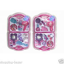 Girls Toy Vanity Beauty Cosmetic Bag Carry Case Pretend Beauty Make Up Gift Set