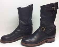 #D VTG MENS RRL ENGINEER LEATHER BLACK BOOTS SIZE 9.5 D