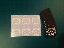 """STORM TROOPER HELMET"" Magazine Sticker 6 Pack, Star War, AR 15, AK, WHITE!"