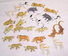 Vintage Plastic Animals Jungle Playset,Hong Kong,Lion Pride,Antelope,Anteaters