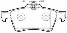 Vauxhall Signum 1/04-, Vectra 1/04- New Rear Brake Pads