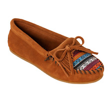 NIB Minnetonka ARIZONA KILTY MOC Brown Moccasin Shoe Womens 9  M
