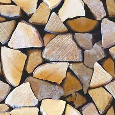 Log Burner Fire Wood - Fine Decor Distinctive Wooden Logs Wallpaper FD31046