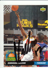 1992-93 UPPER DECK ALL DIVISION TEAM SIGNED DOMINIQUE WILKINS AUTO WITH JSA COA