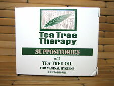 TEA TREE THERAPY Vaginal Hygiene Suppositories with Tea Tree Oil 6 Ct