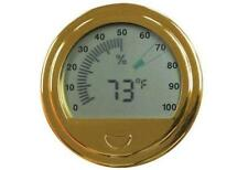 Large Digital meets analog Hygrometer for your cigar humidor