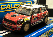 Scalextric Mini Countryman WRC #37 DPR & working Lights 1/32 Slot Car C3301