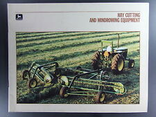 John Deere Hay Cutting Windrowing Equipment 32 Page Dealers Brochure 1986