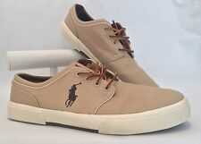 Ralph Lauren Polo Faxon Low | Khaki Canvas Shoes Sz 12 D