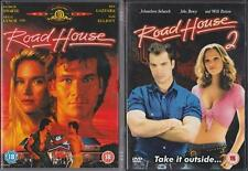 ROAD HOUSE 1 & 2 [One,Two] Patrick Swayze Cult Action Bar Fighting DVD *EXC*