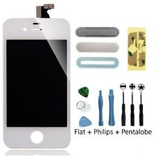White LCD Screen + Glass Digitizer Assembly + 9 in 1 Tool Kit for iPhone 4S 4GS