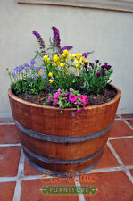 1/2 Wine Oak barrel planter/ Handmade
