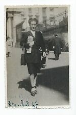 BM952 Carte Photo vintage card RPPC woman Femme mode fashion street Istambul