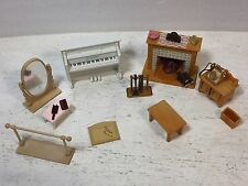Sylvanian Families, Calico Critters Furniture,accessory, Piano, Fireplace,LOT