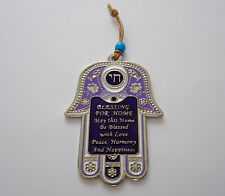 Hamsa Hand with Home Blessing Protection Amulet Charm Kabbalah Wall Hanging Gift