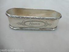 """STERLING NAPKIN RING ENGRAVED NAME OF ROMA, 7/8"""" BY 3"""", OVAL"""