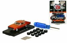 `66 Dodge Charger FOOSE + 12 Extra Wheels 1966 ** M2 Machines 1:64 RAR+OVP